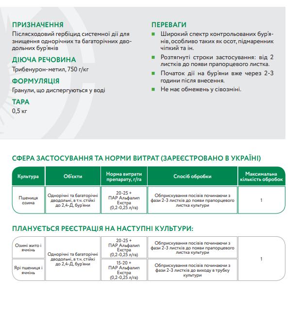 гербицидАльфа Стар инструкция