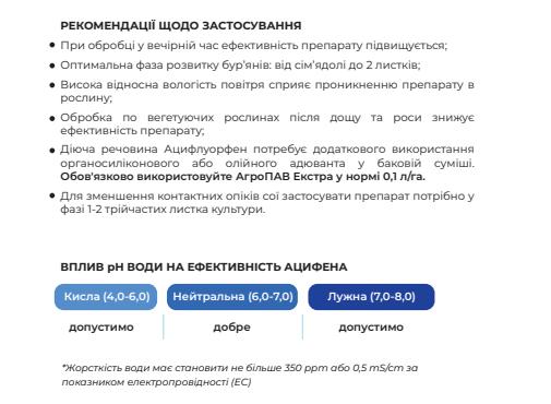 Гербицид Ацифен применение